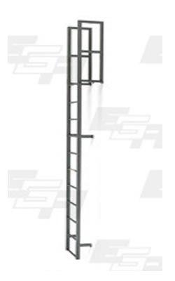 20 Step Steel Vertical Walk-through Ladders