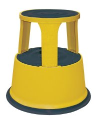 Yellow Rolling Step Stool, Rolling Step Stools, Commercial ...