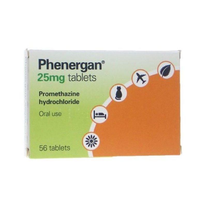 Buy Phenergan 25mg Tablets 56 Tablets - Allergy Sleep Aid ...