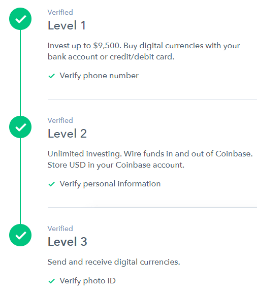 buy bitcoin coinbase id verification