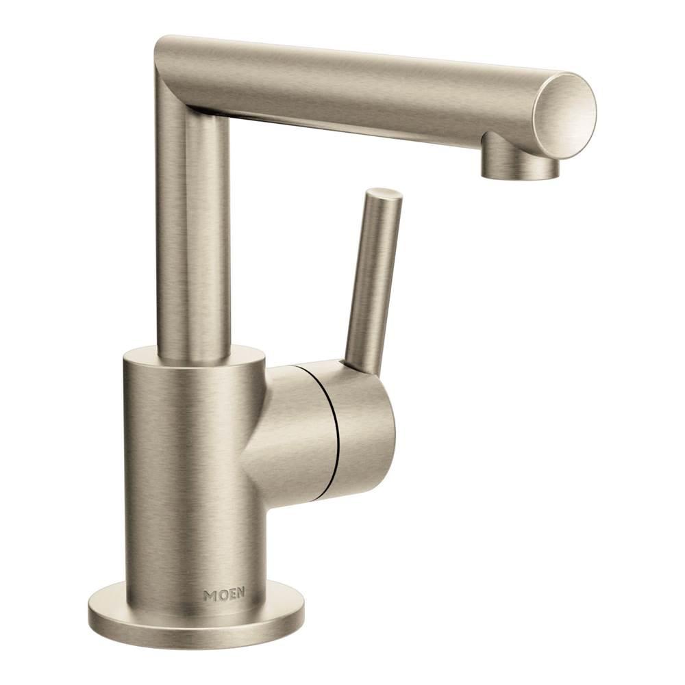 brushed nickel one handle bathroom faucet