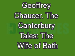 Geoffrey Chaucer: The Canterbury Tales: The Manciple PDF
