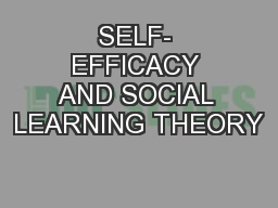 Social Learning Theory PowerPoint Presentation, PPT