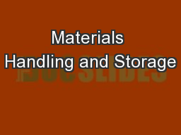 Materials Handling and Transfer PowerPoint Presentation