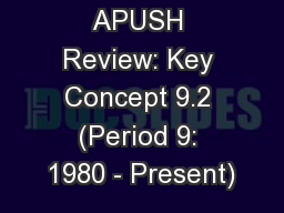 APUSH Review: Key Concept 8.2, Revised PowerPoint