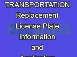 Wisconsin Department of Transportation PDF document