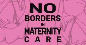 no borders in maternity care text on graphic of pregnancy