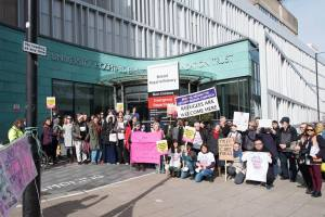 50 protestors outside University Hospitals Bristol Foundation Trust