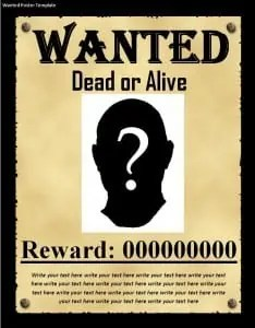Wanted Poster Template - Word Templates, Excel Templates
