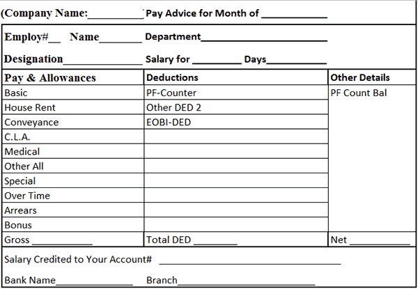Top 5 Formats Of Salary Slip Templates Word Templates Excel Templates