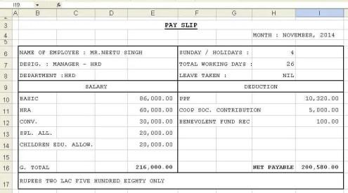 Top 5 Formats Of Salary Slip Templates - Word Templates, Excel Templates