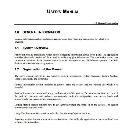 Top 5 Samples Of User Manual Templates - Word Templates, Excel Templates
