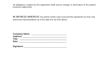 Non-Disclosure Agreement Template 174
