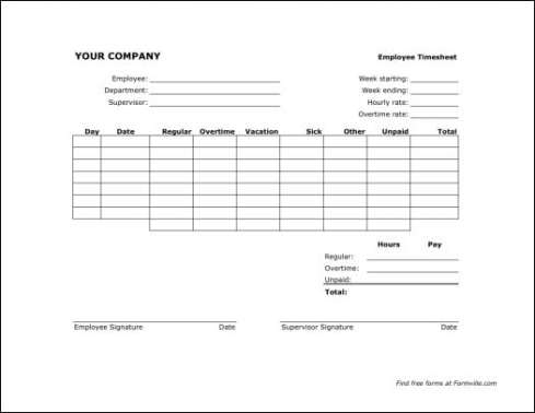 time sheet template 39641