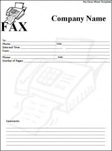 Fax Cover Sheet Template  Free Fax Cover Sheet Template Word