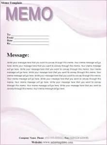 free memo template word