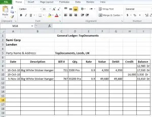 General Ledger Template 264  General Ledger Template