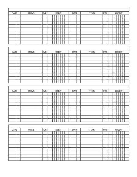 Top  Free General Ledger Templates  Word Templates Excel Templates