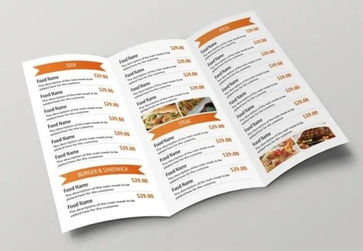 restaurant menu template 2364