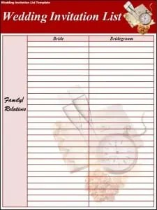 wedding picture list template