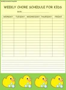 Weekly Schedule Template  Free Weekly Schedule Template
