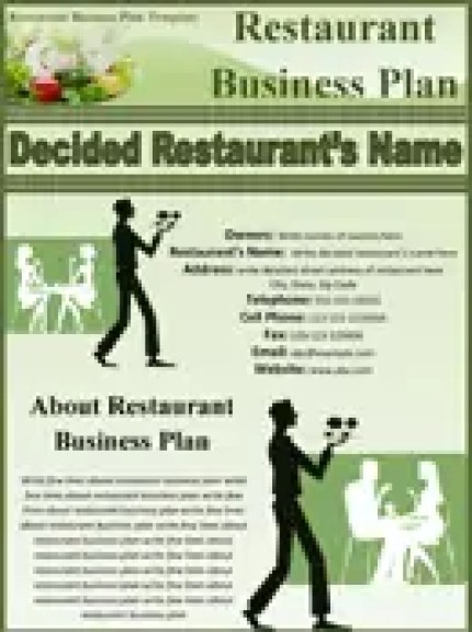 Top 5 resources to get free restaurant business plan templates restaurant business plan template 3124 accmission Image collections