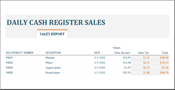 sales report template 4745