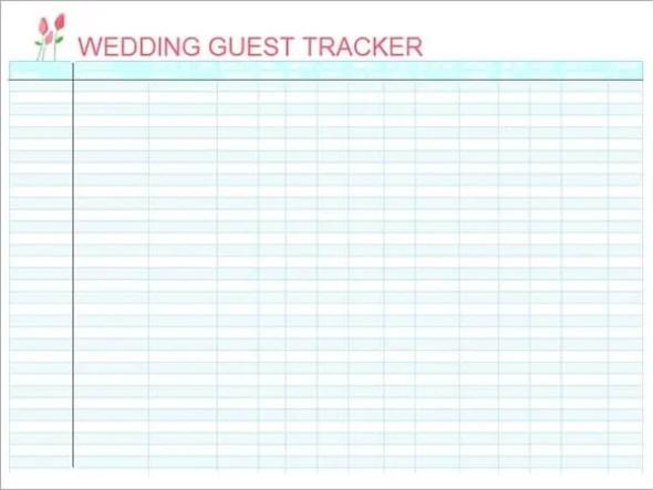 wedding guest list template 4212
