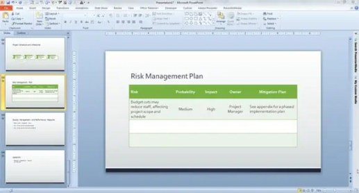 risk management plan template 4127