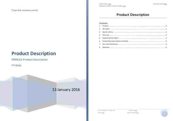 Top  Resources To Get Free Product Description Templates  Word