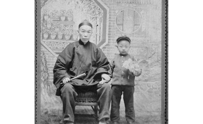 Photograph Of Chun Jan Yut With His Father Chun Duck Chin