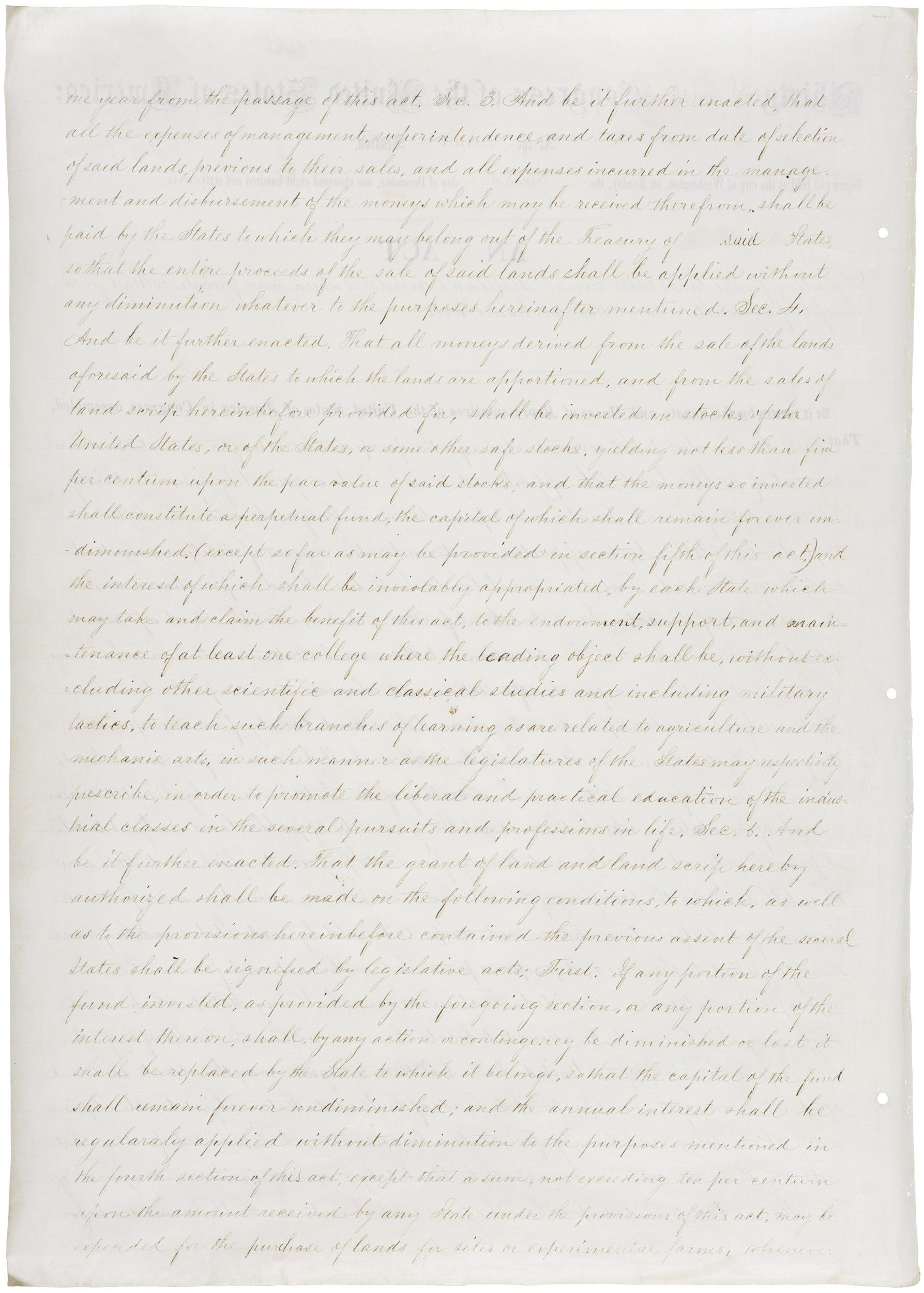 Act of July 2, 1862 (Morrill Act), Public Law 37-108, 12