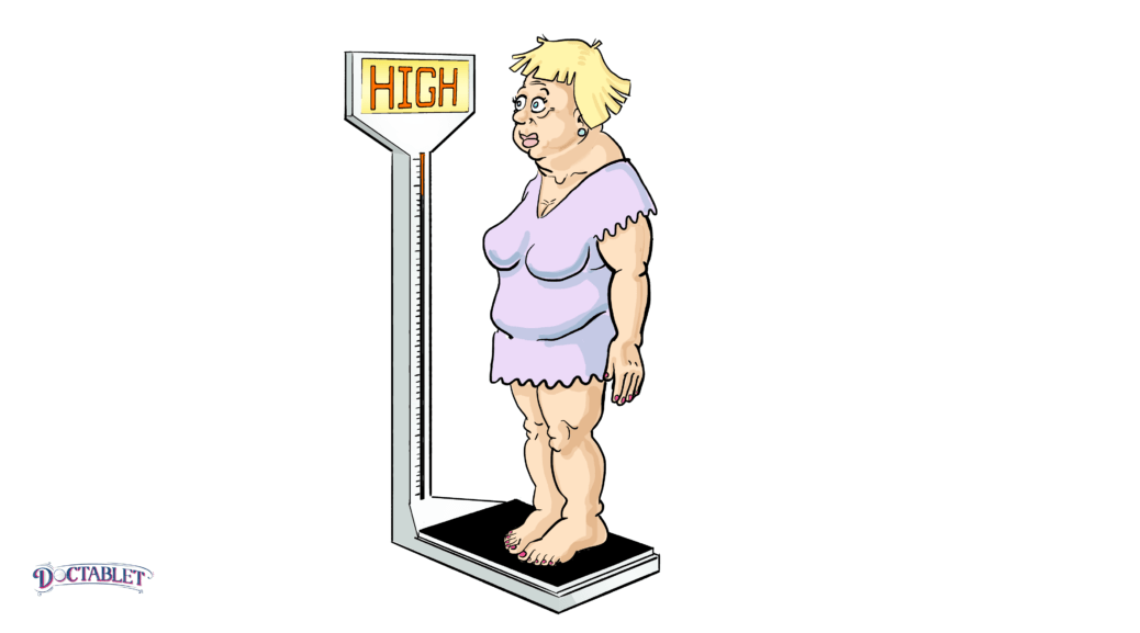 Weight gain caused by congestive heart failure