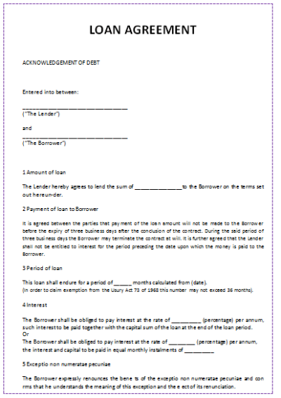 5 Loan Agreement Templates to Write Perfect Agreements