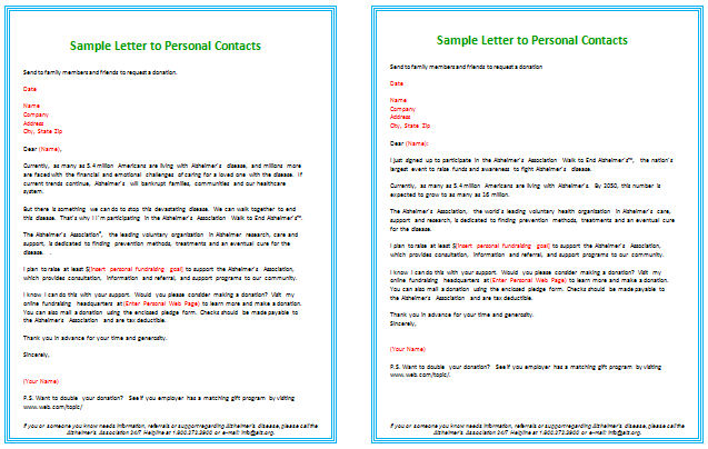 Donation Letter Templates for Fundraising  Free Examples