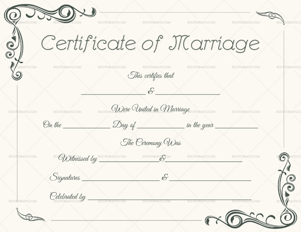 Editable Marriage Certificate Templates (Make Your Own