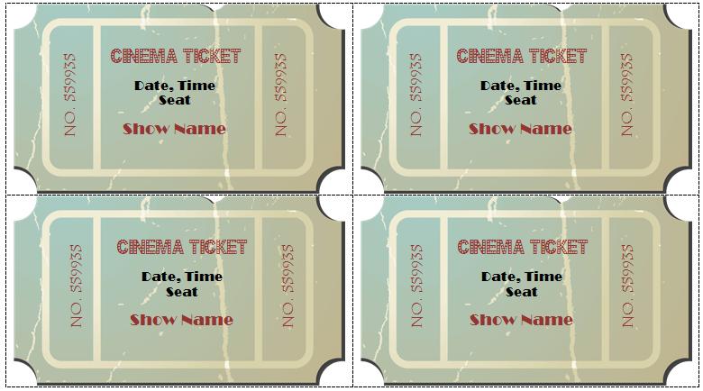 editable movie ticket template