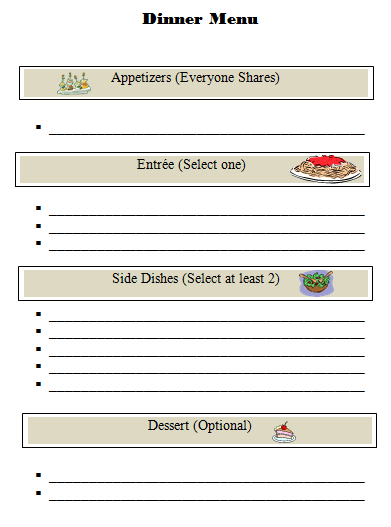 mother s day menu template word