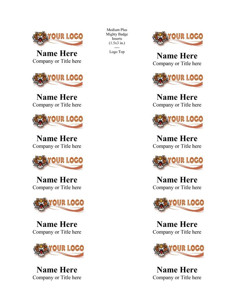 free printable name tags template