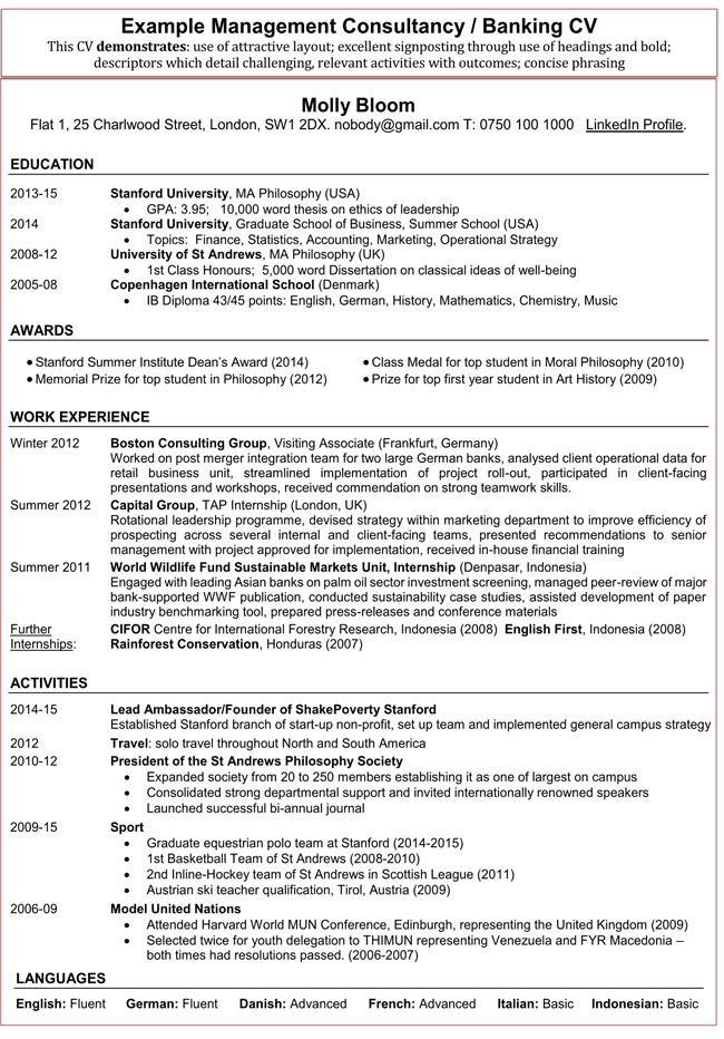 a sample resume for an accountant
