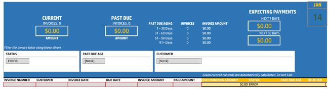 invoice tracker template track