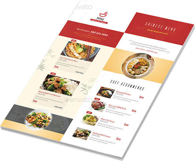 chinese menu template