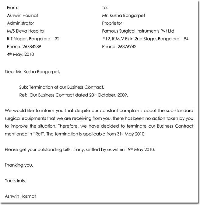 28 Samples Of Termination Letter Templates Formats