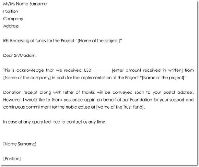 Acknowledgement Letter Templates 18