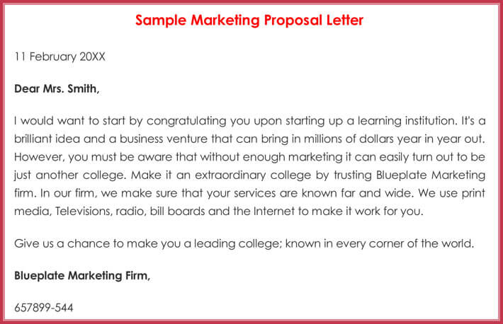 Sample Marketing Letters 20 Formats For Sales & New