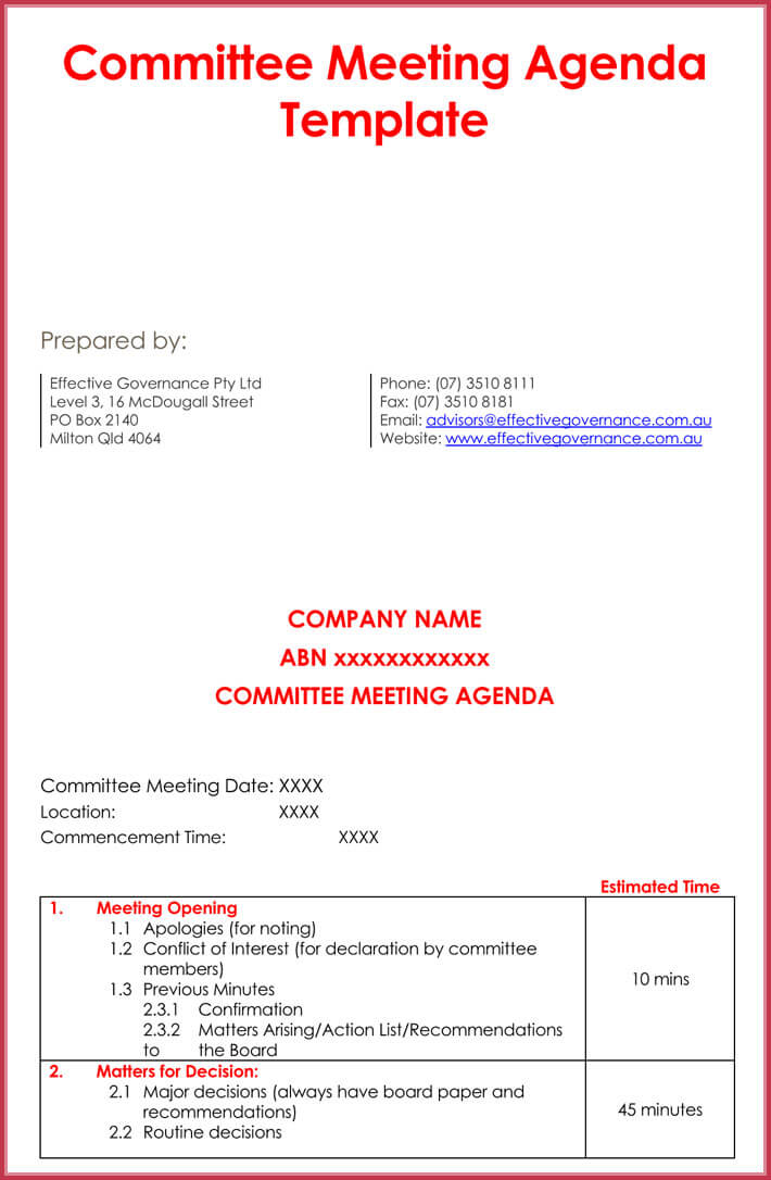 Get this for yourself from our meeting agenda template collection or learn how to make your own through our guidelines. How To Create Weekly Meeting Agenda 13 Templates Samples