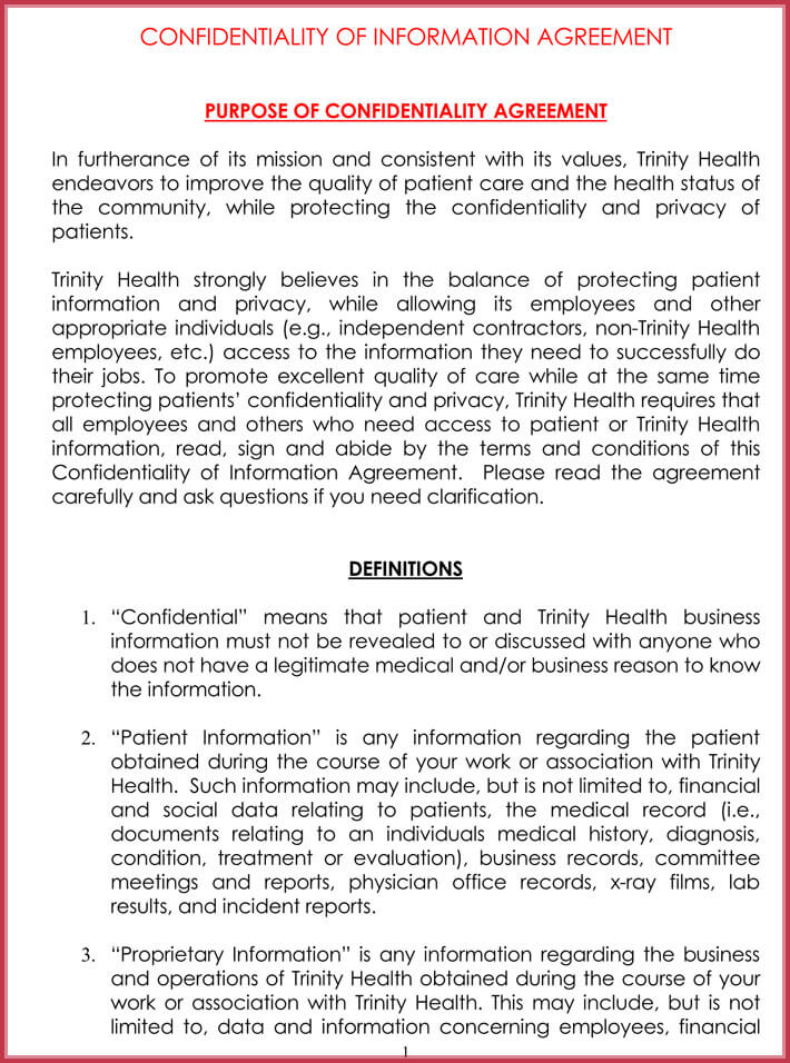 Celebrity Confidentiality Nda Agreement Samples And
