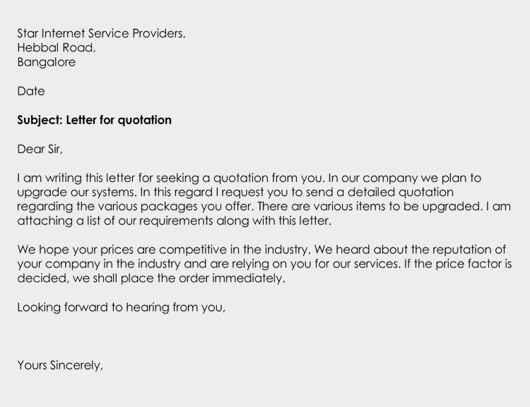 Business Quotation Letter Its Types Uses Writing Tips