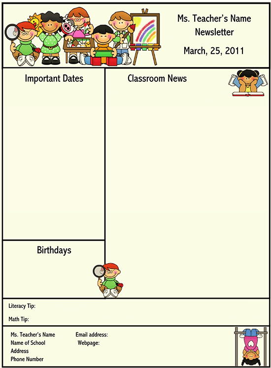 Be done proficiently when teachers don't have proper management of their monthly plans. 16 Free School Newsletter Templates For Classroom And Parents