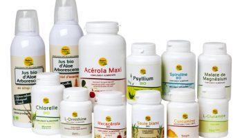 compléments alimentaires, spiruline, psyllium, magnésium, curcumine, jus d'aloe